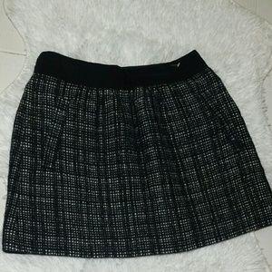J. Crew Plaid Wool Blend Flare Mini Skirt-Size 0